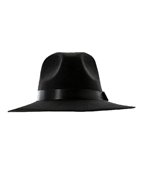 e04047e3faf Choies Women Or Men Woolen Plain Black Felt Fedora at Amazon Women s  Clothing store