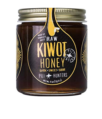 Pili Hunters Wild Kiwot Stingless Bee Honey, Fermented, Wild, Sweet, Sour, Raw Honey - 4 oz. Jar