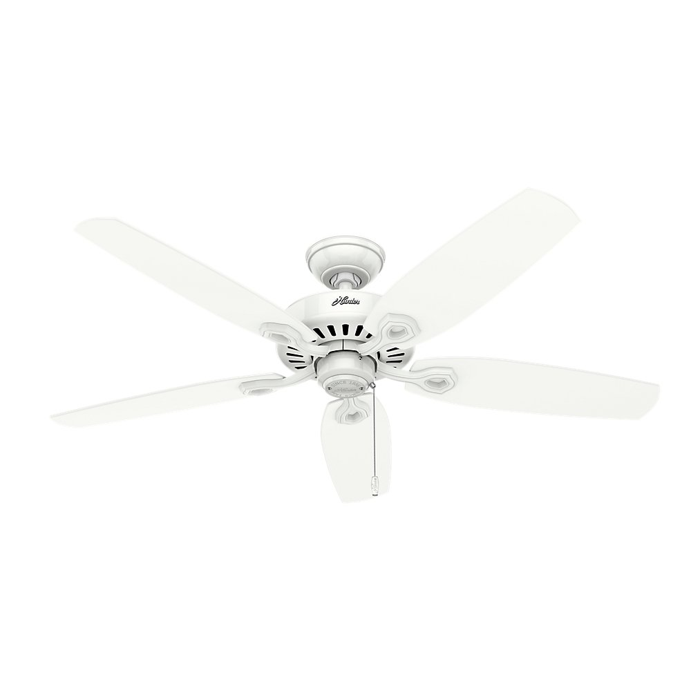 Hunter Indoor Ceiling Fan, with pull chain control - Builder Plus 52 inch, White, 53236 by Hunter Fan Company (Image #3)
