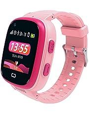4G Intelligent Horloge Kind,DYBITTS Kids Smart Phone Horloge GPS Smartwatch Ondersteuning Bidirectionele Video Call SOS Anti-Verlies IP67 Waterdichte Smartwatch Telefoon met Camera Compatibel iOS Android