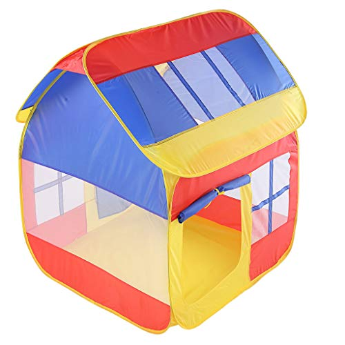 XIANAER Children's Tent Foldable Color Matching Indoor House Play House Boy and Girl Castle Tent Outdoor Toys