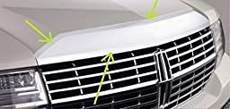 OEM Factory Stock Genuine 2008 2009 2010 2011 2012 2013 2014 Lincoln Naviagtor Top Grille Grill Chrome Front Hood Applique Bezel Trim Molding