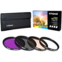 Polaroid Optics 55mm 4 Piece Filter Set (UV, CPL, FLD, WARMING)