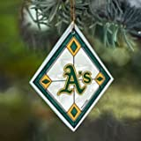 Oakland A's Stained Glass Ornament