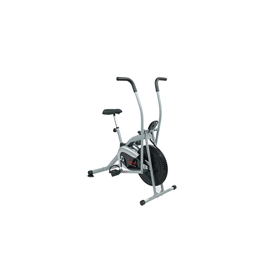 Sunny Health & Fitness SF B2621 Cross Training Fan Upright Exercise Bike w/Arm Exercisers