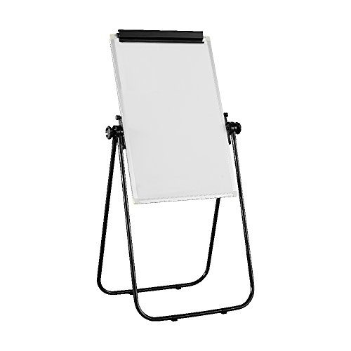 VIOTEK VB2436 24x36 Portable Whiteboard: Adjust the Height & Write at Any Angle w/ the 360° Rotation; Streakfree Clean Non Magnetic Aluminum Markerboard