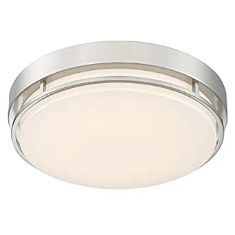 Altair Led 14 Quot Flushmount Dimmable Light Fixture In