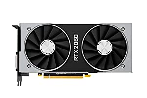 Nvidia Official GeForce RTX 2060 Founder Edition 6GB GDDR6 14 Gbps Memory Speed