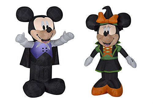 3.5 Feet Tall Airblown Self Inflatable Mickey And Minnie Mouse Halloween Decorations Outdoor Yard Decor With Energy Efficient LED (Halloween Mouse)