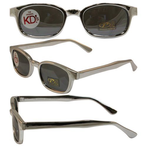 Original KD's Biker Sunglasses Chrome Frame with Silver Mirrored - Kd S Sunglasses