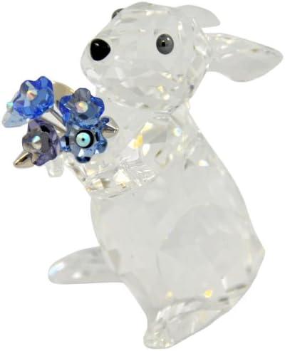 SWAROVSKI Rabbit with Forget-Me-Not Figurine