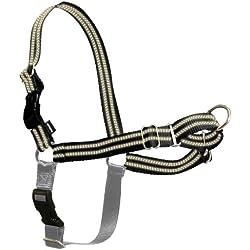 PetSafe Reflective Easy Walk Dog Harness, Small/Medium, Black/Silver