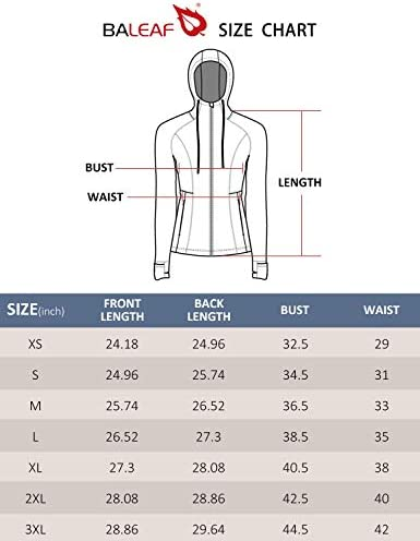 BALEAF Womens Fleece Full Zip Athletic Running Jackets Hooded Thermal Sport with Thumb Holes