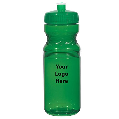 """Poly-Clear 24 Oz. Fitness Bottle - 100 Quantity - $1.95 Each - PROMOTIONAL PRODUCT / BULK / BRANDED with YOUR LOGO / CUSTOMIZED Size: 3"""" W x 8"""" - Bottles Logo Custom"""