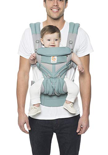 Ergobaby Carrier, Omni 360 All Carry Positions Baby Carrier with Cool Air Mesh, Icy -