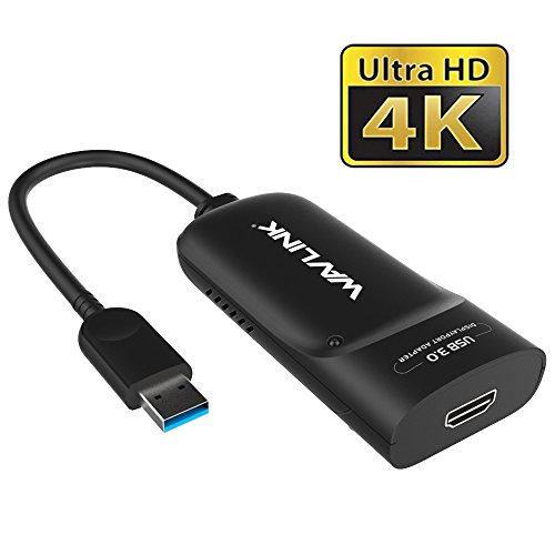 Wavlink USB 3.0 to 4K HDMI External Multi Monitor Graphics Adapter up to 3840x2160 (Supports Windows 10/8.1/8/7)
