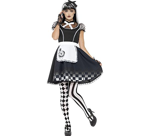 Smiffys Women's Gothic Alice Costume, Black, Medium ()