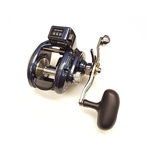 - Daiwa Lexa-LC 5.5:1 Line Counter Right Hand Baitcast Fishing Reel w/ Power Handle - LEXA-LC400PWR-P