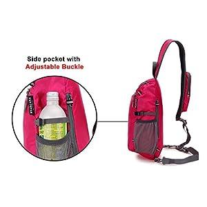 STARCARE Sling Shoulder Crossbody Bag Lightweight Chest Backpack for Hiking, Travel or Multipurpose Daypacks for Men and Women (Fuchsia)
