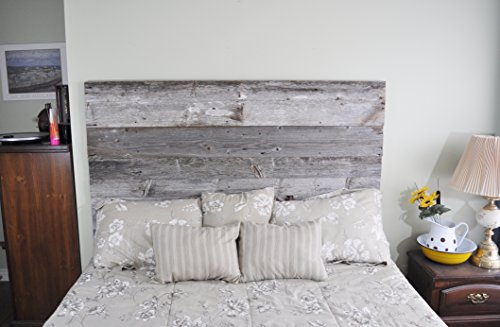 Authentic Barn Wood Head Board Do It Yourself Installation – Made From Reclaimed Wood (King Standard Headboard, 37 Inches) (Boards Head King)