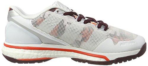 adidas Stabil Boost 20y W, Chaussures de Handball Femme Blanc Cassé (Bianco Ftwbla/granat/energi)