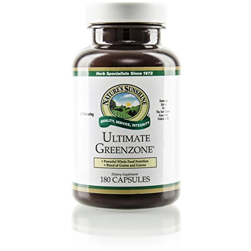 Nature's Sunshine Ultimate Greenzone, 180 Capsules | Supports Immunity, Helps Maintain a Balanced PH Level, and is Full of Nutritional Grains, Herbs, Fruits