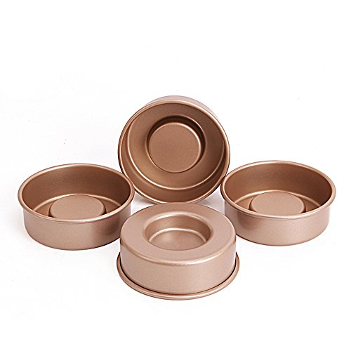MyLifeUNIT Tasty Fill Mini Cake Pan Set, Non-Stick Layer Cake Pans for Making Filled Cakes with Hollow Centers