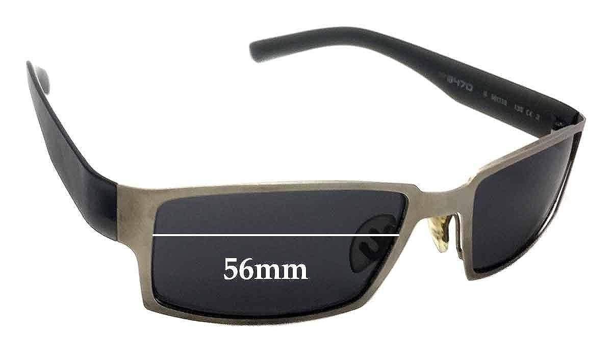 SFx Replacement Sunglass Lenses fits Porsche Design P8470 56mm wide Ultimate Brown Gradient Hardcoat Pair-Regular