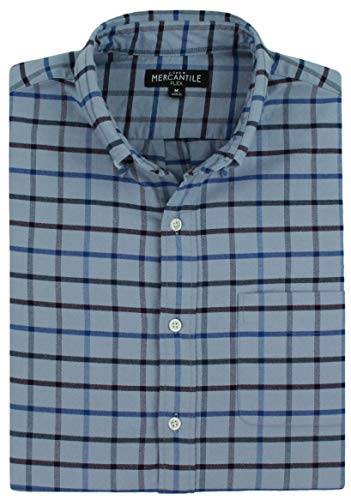 J. Crew - Men's - Slim Fit Flex Oxford Shirt (Multiple Size/Color Options) (Small, Echo Grey Checked) - Echo Oxford
