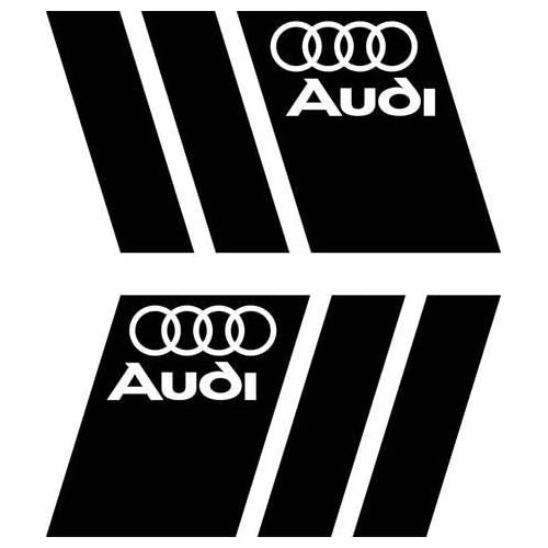 2 X Avec Logo Audi Noir Kotfluegel Decal Stickers