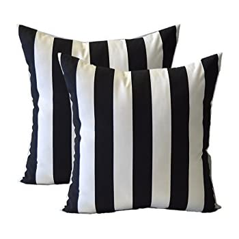 Amazon Set Of 40 Pillow Covers 400 Black And White Stripe Amazing Black And White Striped Decorative Pillows