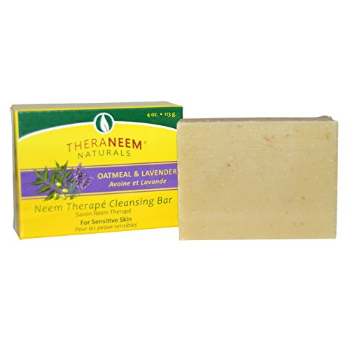 organix-south-theraneem-naturals-neem-therapy-cleansing-bar-oatmeal-lavender-4-oz-113-gpack-of-2