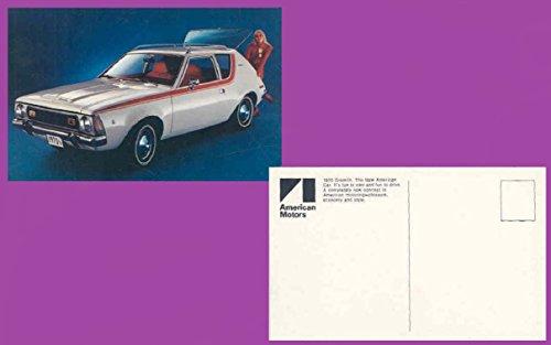 1970 AMC AMERICAN MOTORS GREMLIN 2-Door SEDAN VINTAGE COLOR POSTCARD - BEAUTIFUL ORIGINAL POST CARD - USA !!