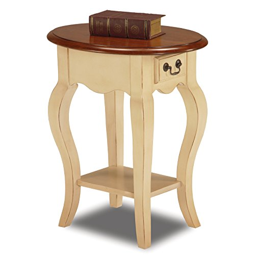 Leick French Oval End Table, Ivory