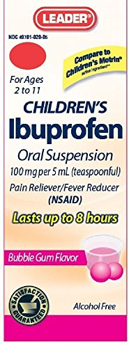 Ibuprofen childrens oral suspension usp 100 mg by KPP, bubble-gum flavor - 4 oz ()