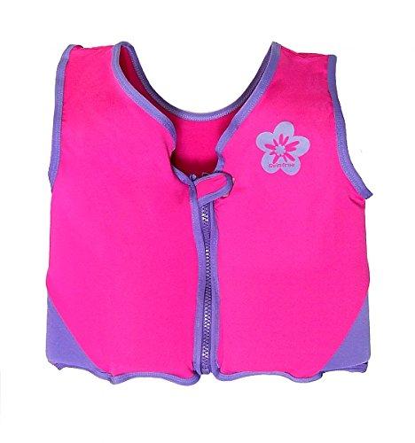 Swimfree Girls Pink//Purple Swim Vest Learn-To-Swim Floatation Jackets Size Medium For Kids Age 3.5-5.5 Years Old