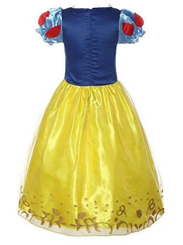 Loel Little Girls Puff Sleeve Dress Up Costume