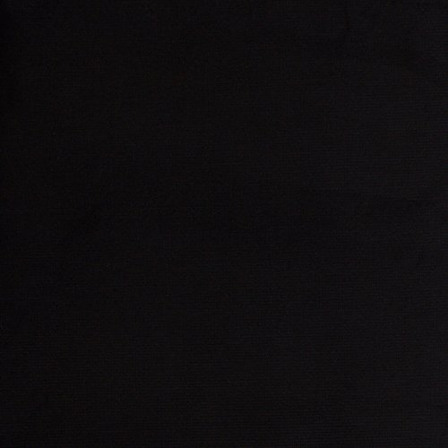 (Premium Stretch Corduroy 16 Wale Fabric Black Jet 48