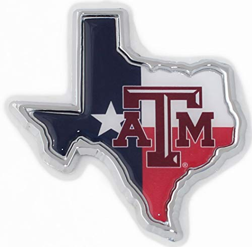 Texas A&M METAL Auto Emblem (Texas flag logo) ()