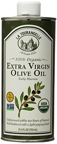 La Tourangelle 100% Organic Extra Virgin Olive Oil - For Olive Oil Lovers - Cold-Pressed, Non-GMO - 25.4 Fl. Oz. Pack of ()