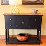 Décor Therapy FR8452 Taylor Four Drawer Console Table, Black