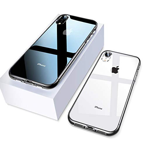 Ainope Case Compatible iPhone Xr, Crystal Clear Protective Cover Compatible Apple iPhone 6.1 2018 Ultra Slim with Invisible Airbag Protection New Version (Transparent)