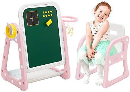 SSLine 2-Piece Kids Plastic Table and Chair Set Toddler Activity Desk