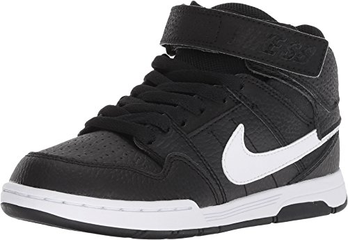 Nike Boys' Mogan Mid 2 JR Skate Shoe, Black/White, 10.5 M US Little Kid