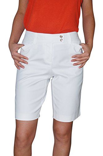 Charter Club Women's Modern Fit Shorts 6 Bright White