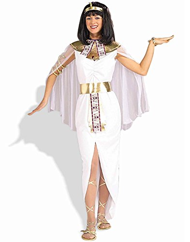 Ancient Egypt Costume And Makeup (Forum Cleopatra Queen Of The Nile Costume, White, One Size)