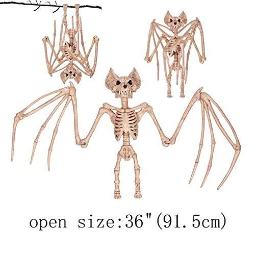 5 Pack, Fantasy Bone Skeleton Crow Raven Animal Skeleton Bones for Horror Halloween Decoration ()