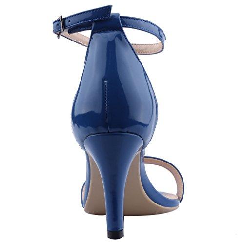 Calaier Da Donna Cabird Open Toe 16cm Sandali Stiletto Con Fibbia Blu