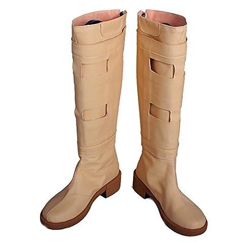 Padme Amidala Beige PU Boots Hot Movie SW Cosplay Boots for Woman C - Adult Padme Amidala Costume