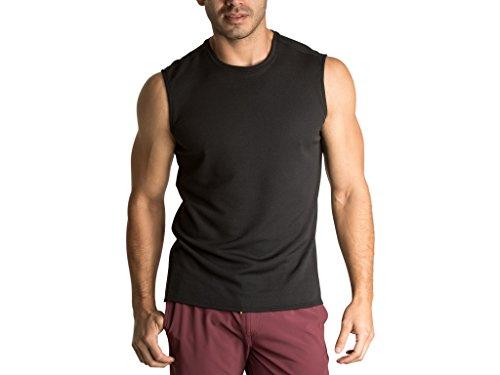 (OLIVERS Apparel, Mens, Merino Wool Tech Mesh Terminal Sleeveless Shirt (Smoke, XL))